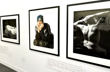 Image of framed photographs on a white wall