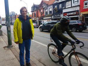 Alber Koehl next to Bloor Street bike lane.