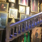 The Moving Staircase and Wall of Famous Wizards