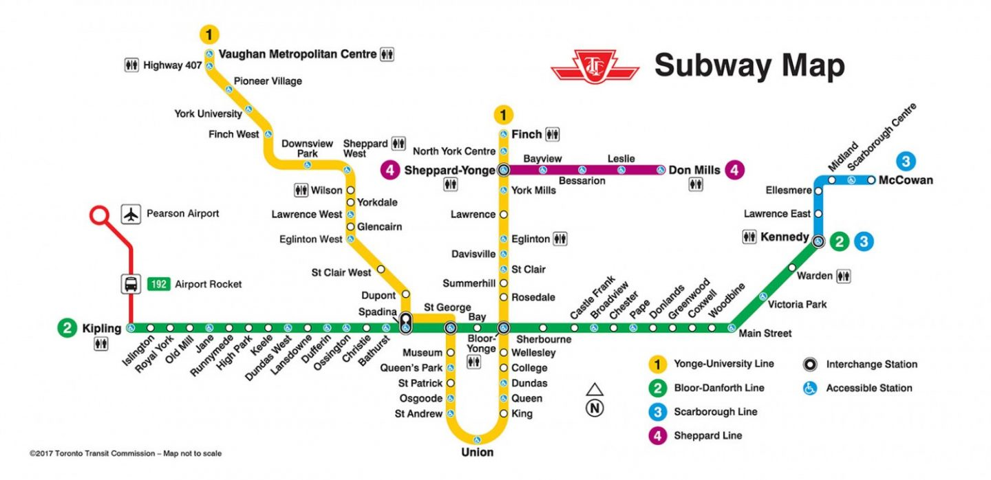 Bloor Danforth Subway Map.A Place Along The Lines Gh360