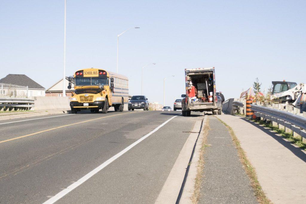 Construction blocking bike lanes