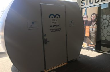 The Mamava breastfeeding station