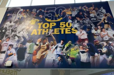A photo of the top 50 athletes in Humber's history