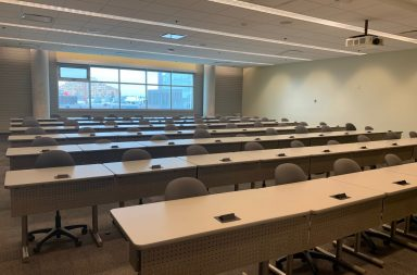 A lecture hall at Guelph-Humber