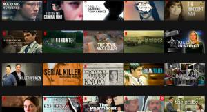 screenshot of netflix screen